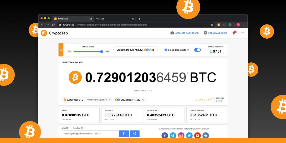 CryptoTab Browser - Leggero, veloce e pronto per il mining!