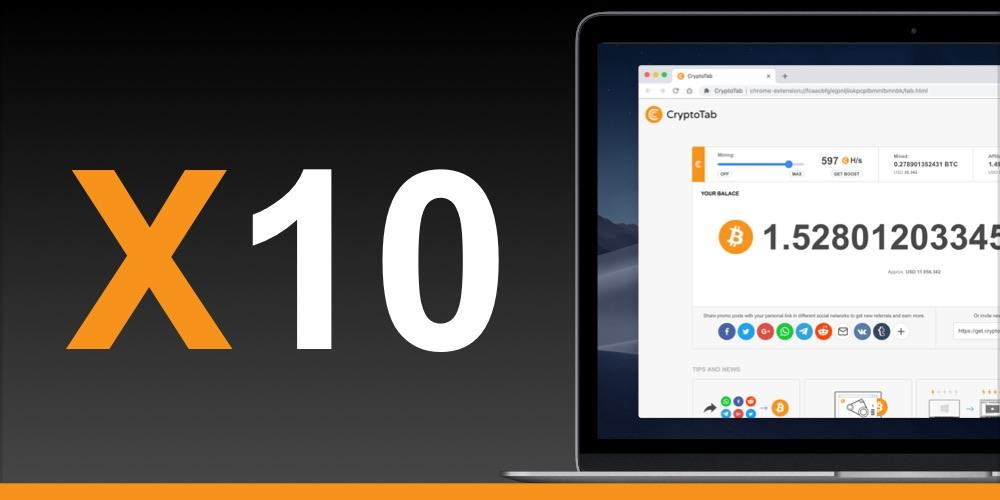 bitcoin x10 come aggiungere bitcoin al mio portafoglio